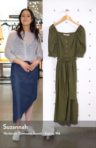 Sylvie Puff Sleeve Linen Blend Jumpsuit, sales video thumbnail
