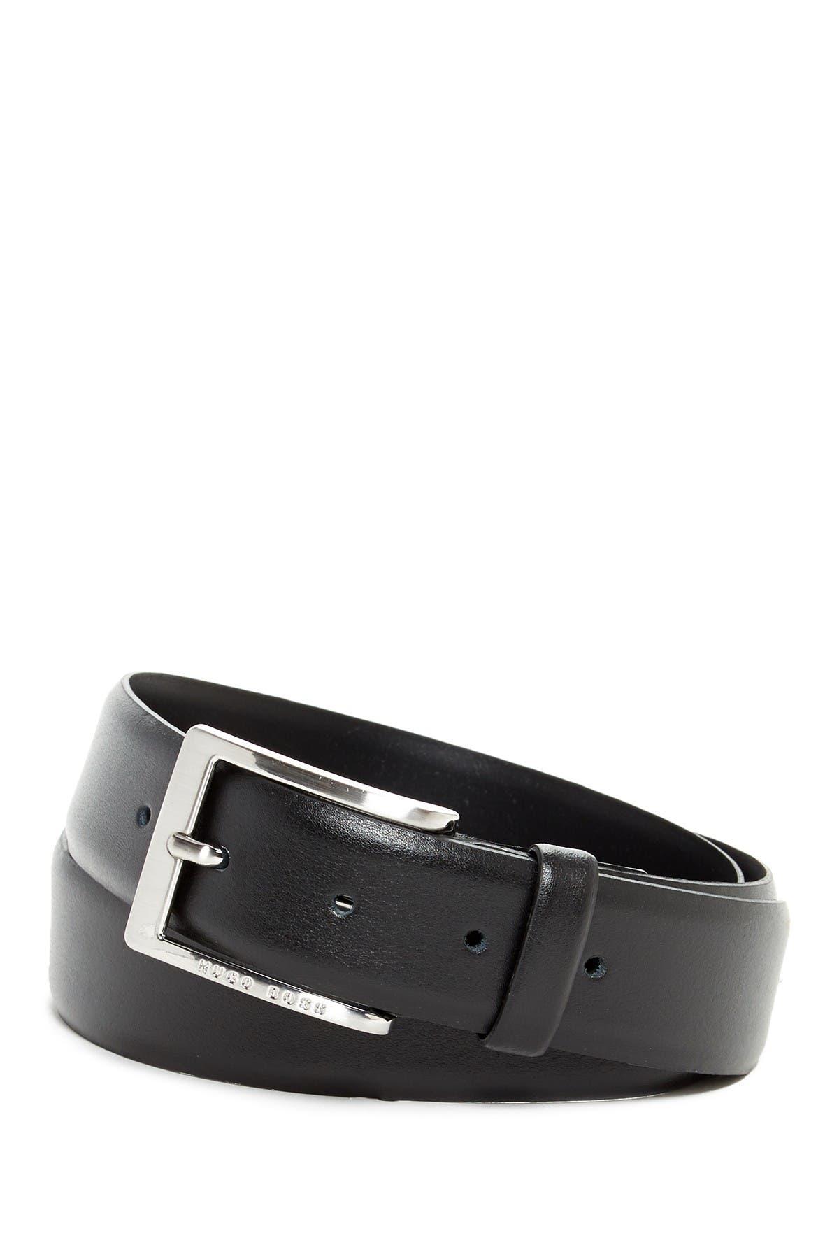 Image of BOSS Plain Leather Belt