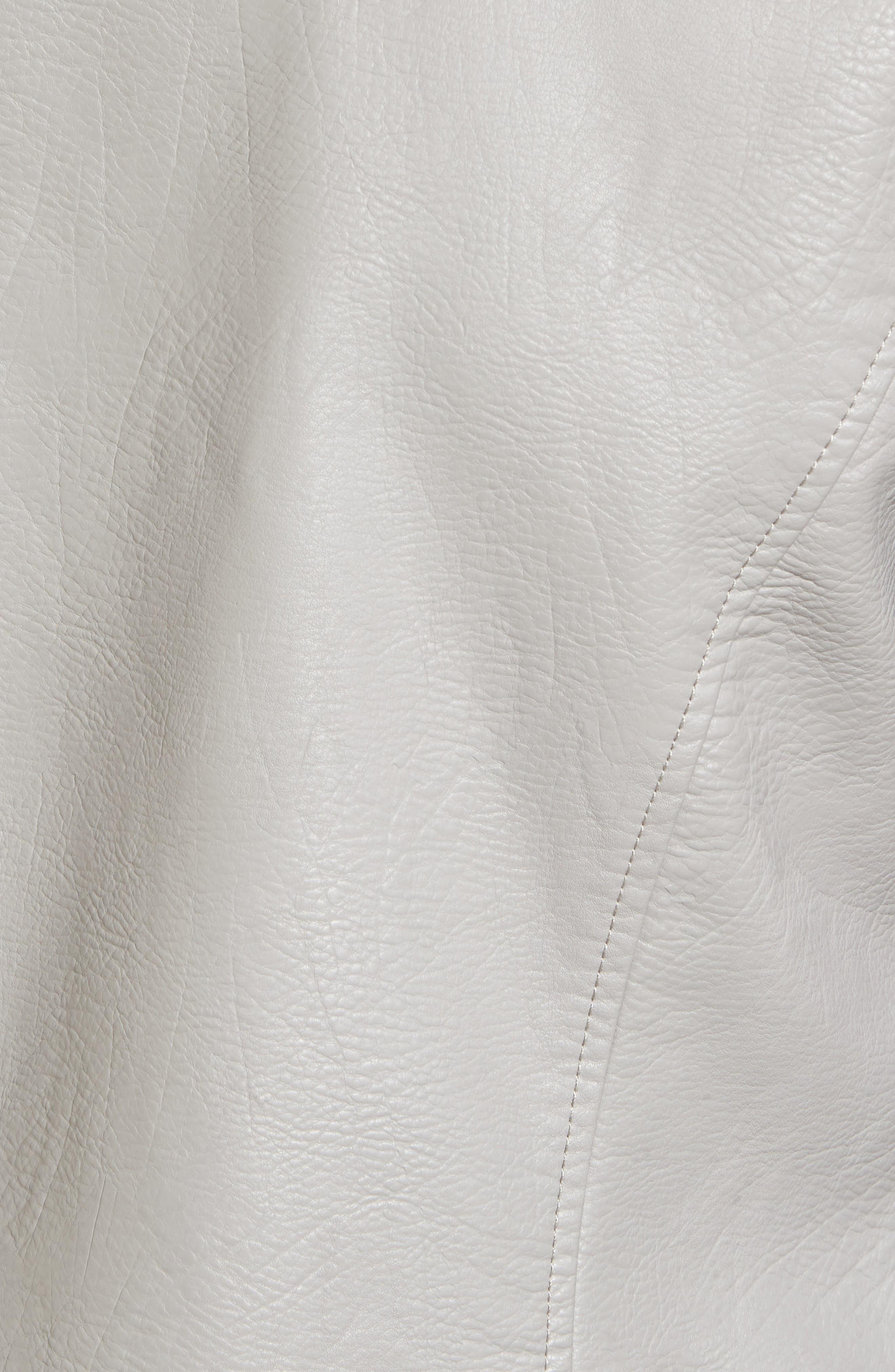 ,                             Faux Leather Moto Jacket,                             Alternate thumbnail 6, color,                             030