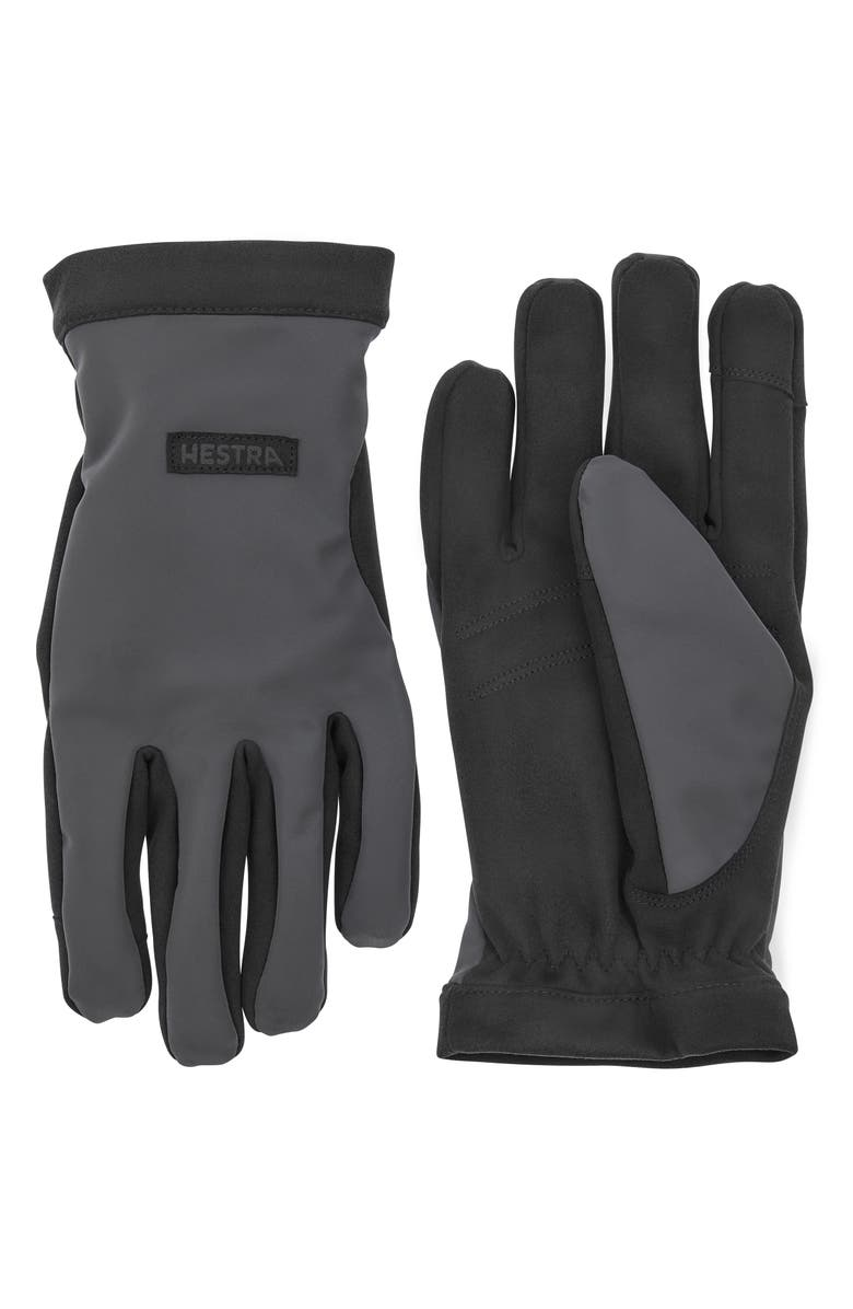 HESTRA Mason Gloves, Main, color, DARK GREY/ BLACK