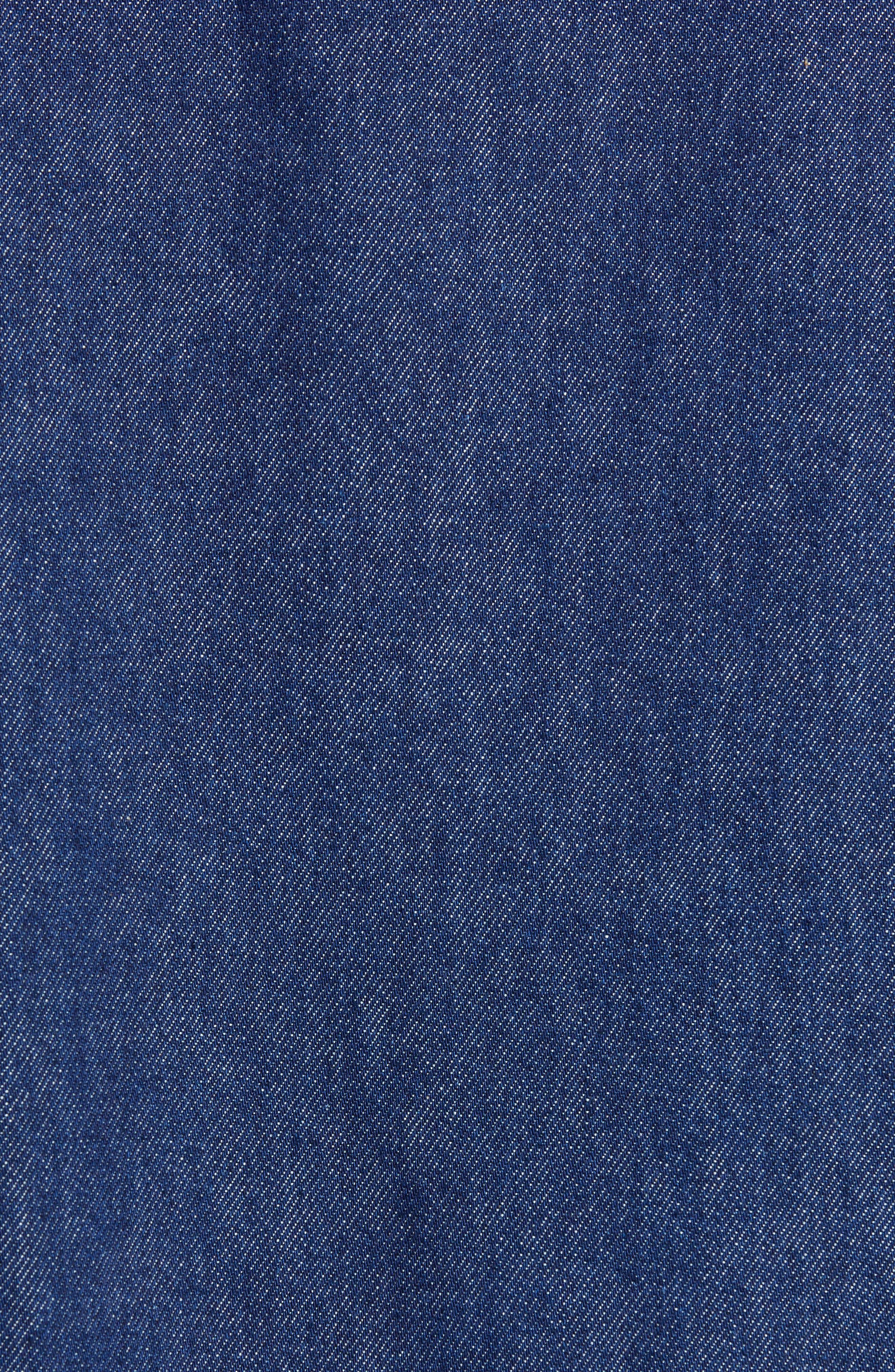 ,                             Punkette Oversize Denim Jacket,                             Alternate thumbnail 5, color,                             DARK NAVY