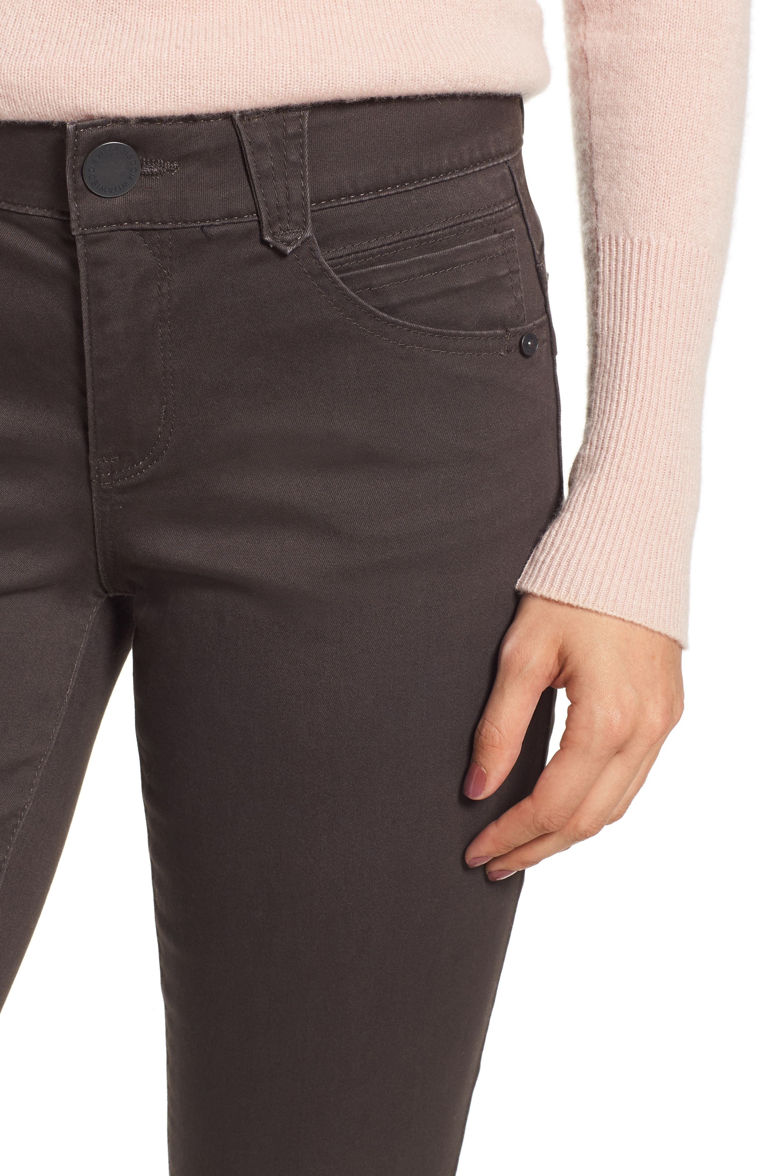 ,                             Ab-Solution Crop Skinny Pants,                             Alternate thumbnail 5, color,                             ESPRESSO