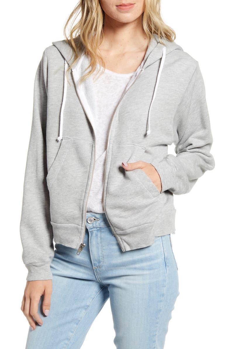 Regan Zip Hooded Sweatshirt by Wildfox