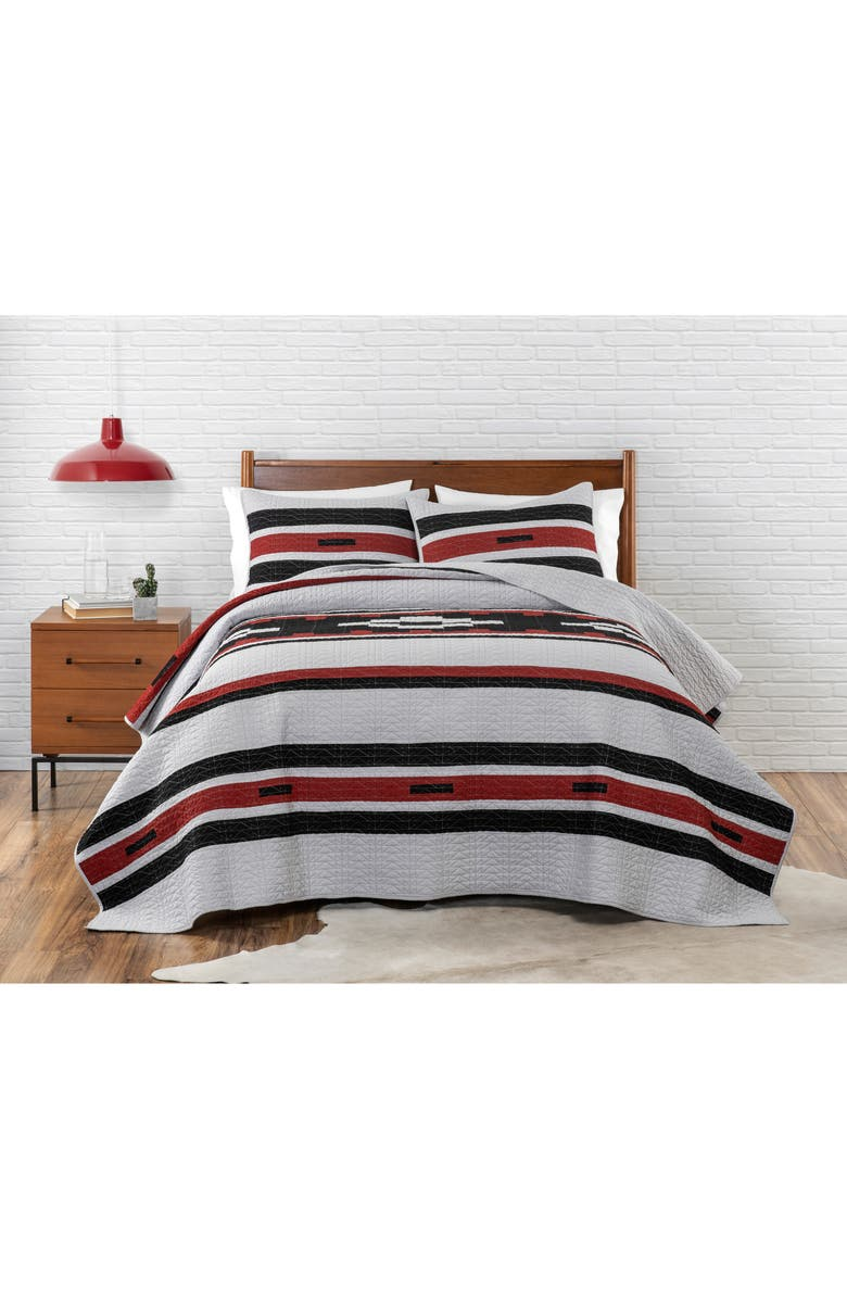 PENDLETON Garnet Canyon Quilt & Sham Set, Main, color, GREY MULTI