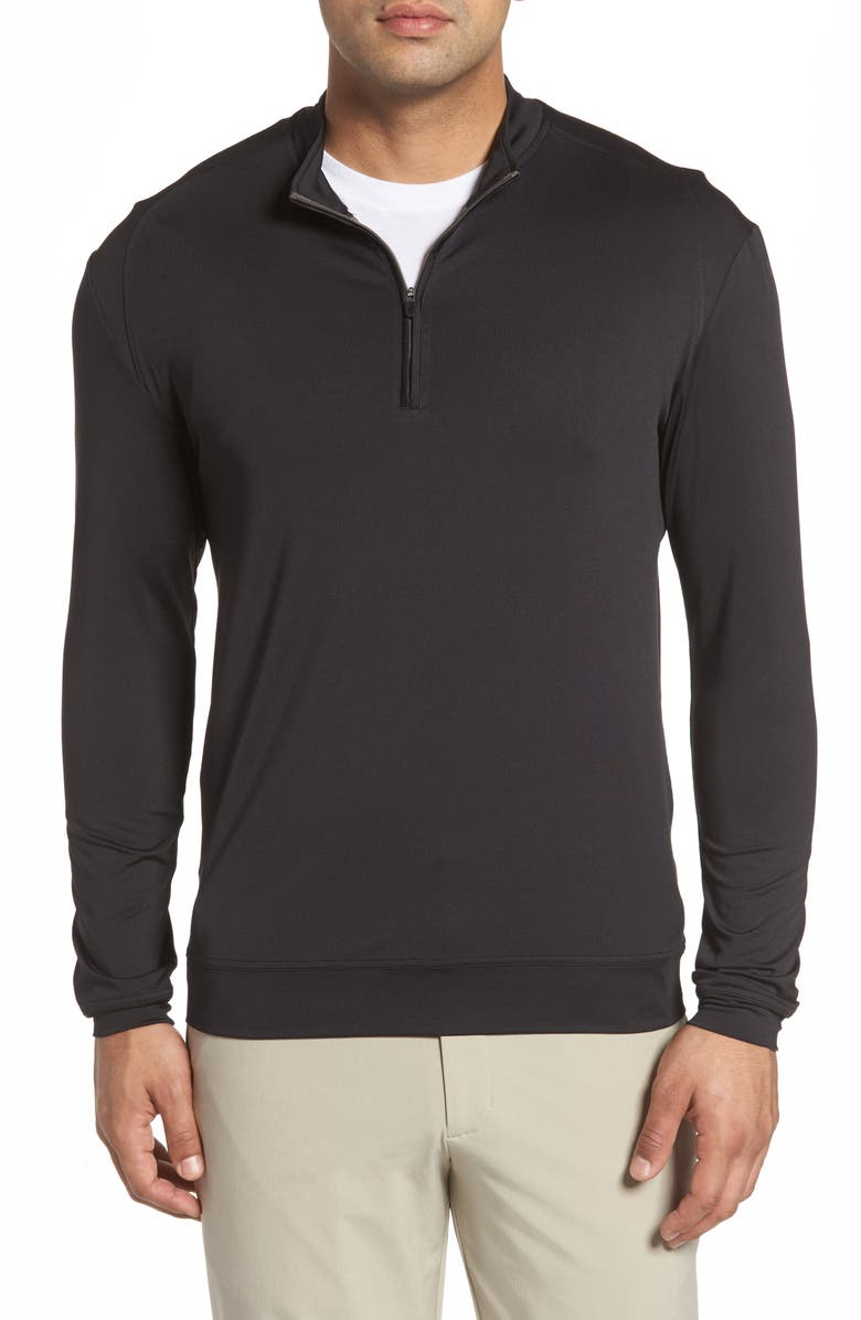 JOHNNIE-O Flex Classic Fit Quarter Zip Pullover, Main, color, 001