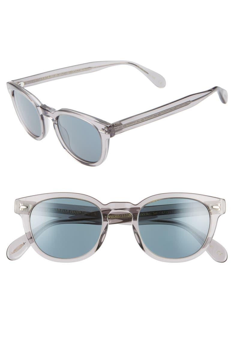 OLIVER PEOPLES Sheldrake 47mm Sunglasses, Main, color, WORKMAN GREY