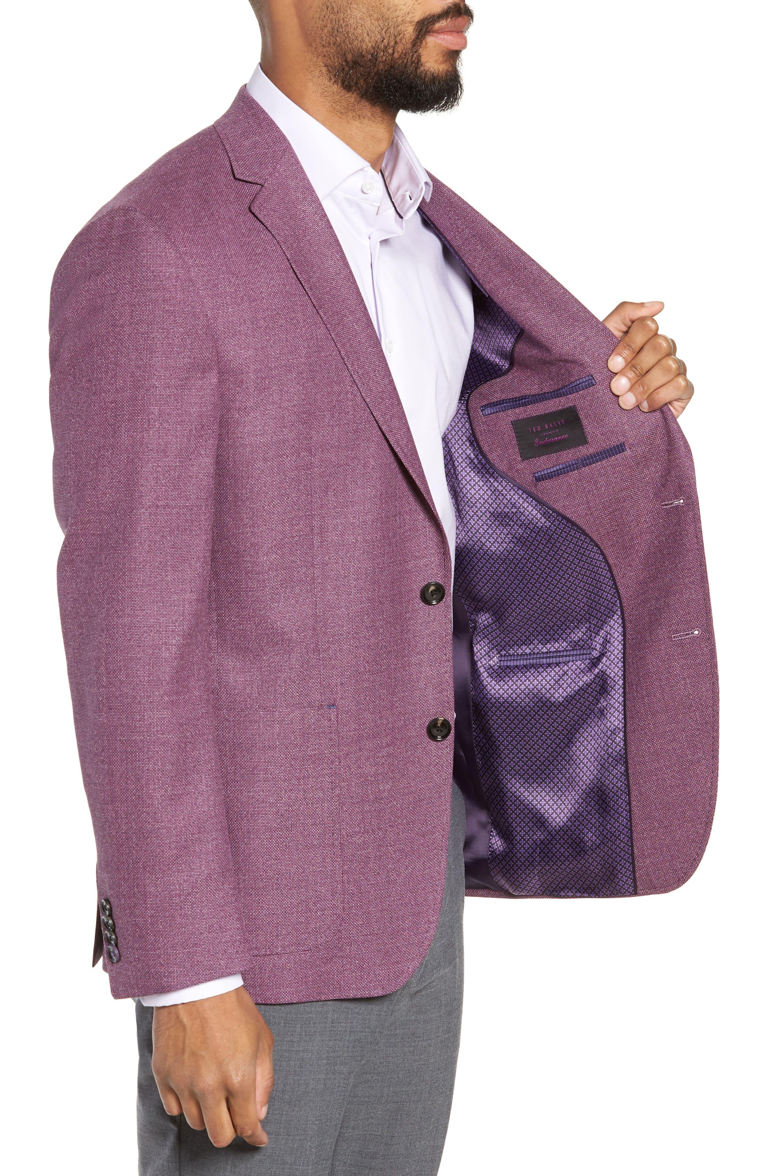 ,                             Kyle Trim Fit Wool Sport Coat,                             Alternate thumbnail 4, color,                             BERRY