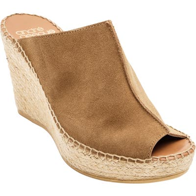 Andre Assous Cici Espadrille Wedge, Beige
