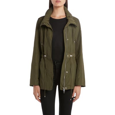 Moncler Drawstring Waist Short Jacket, 0 (fits like 00-0 US) - Green
