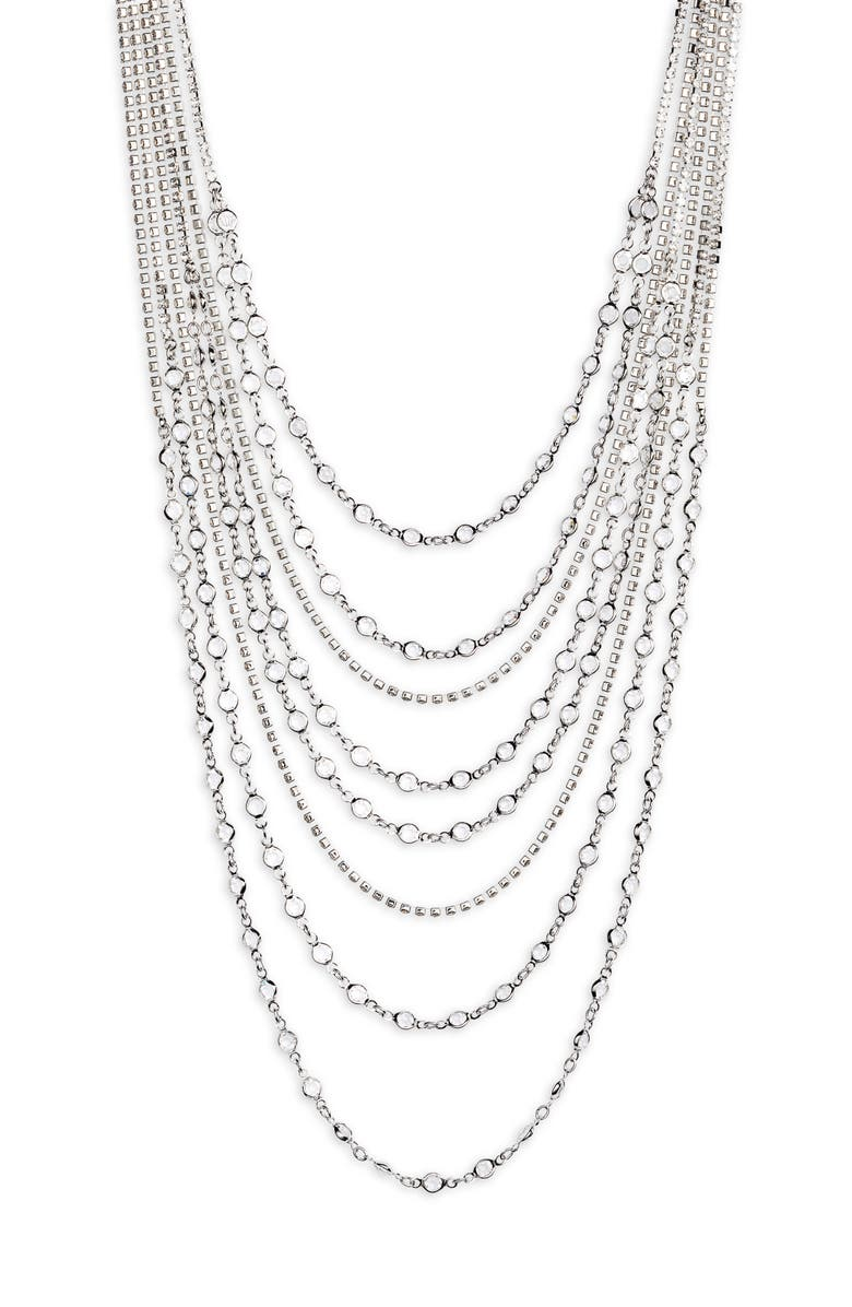 CRISTABELLE Crystal Multistrand Necklace, Main, color, 040
