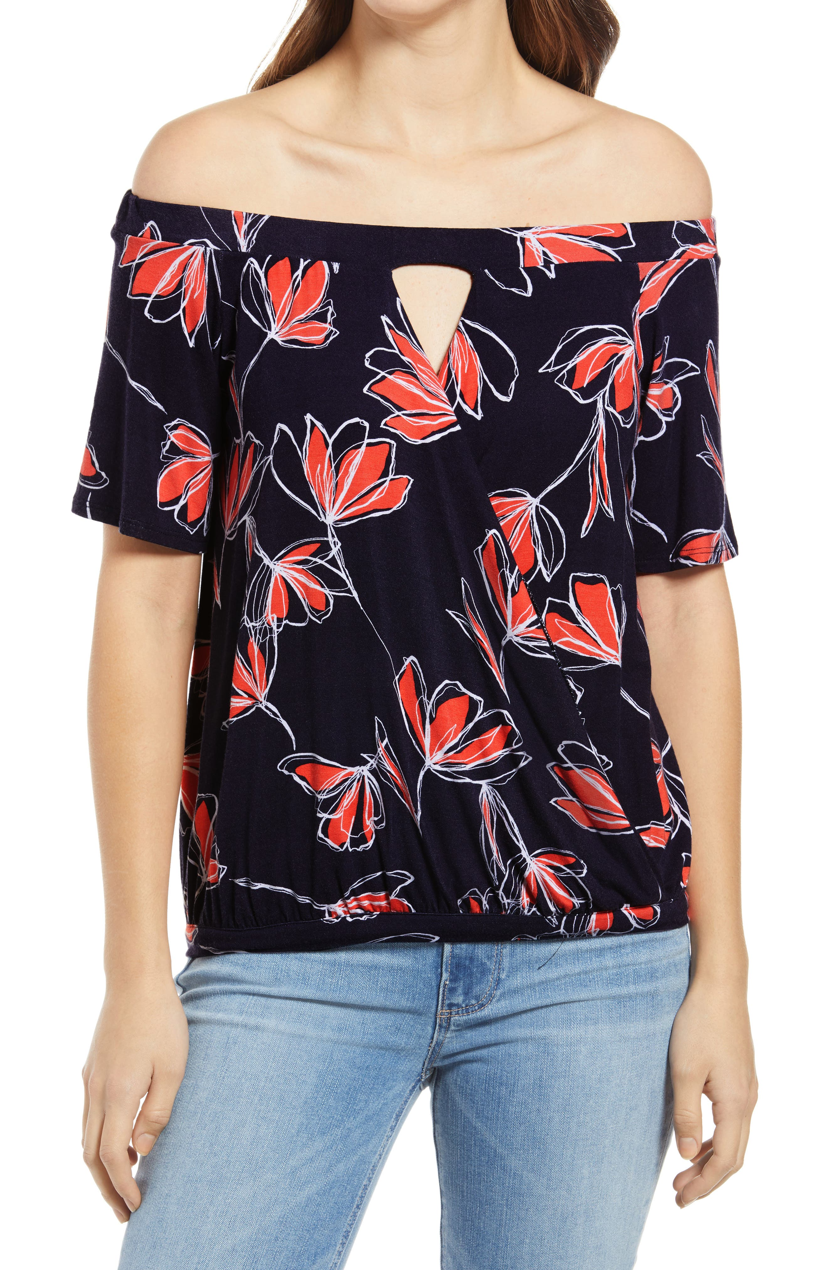 Women's Loveapella Off The Shoulder Faux Wraptop