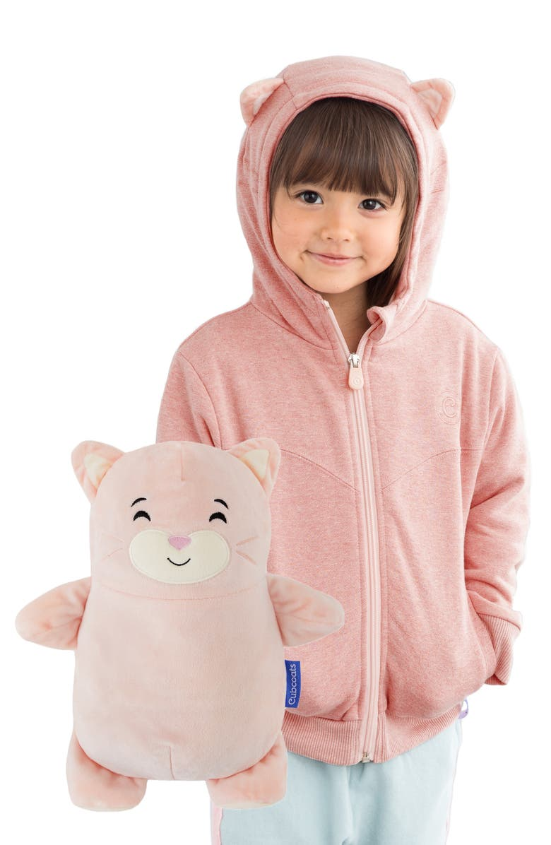 CUBCOATS Kali 2-in-1 Stuffed Animal Hoodie, Main, color, BLUSH MARL