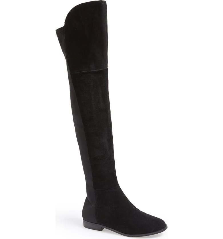 CHINESE LAUNDRY 'Riley' Stretch Back Suede Over The Knee Boot, Main, color, 001