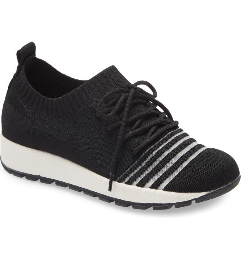 BERNIE MEV. Tara Up Knit Sneaker, Main, color, BLACK FABRIC