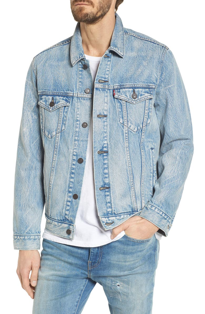 LEVI'S<SUP>®</SUP> Trucker Denim Jacket, Main, color, ROLLED UP DOLLAR