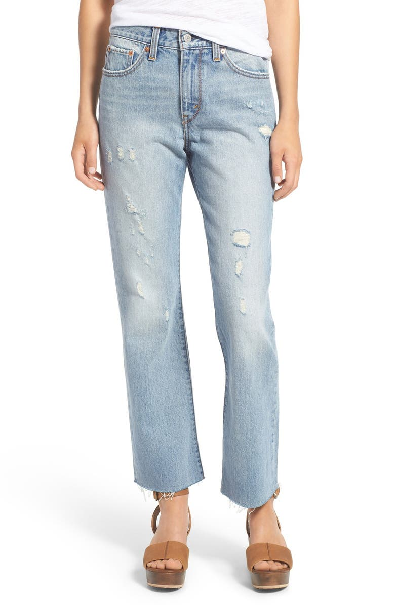 LEVI'S<SUP>®</SUP> Distressed Flare Jeans, Main, color, 400