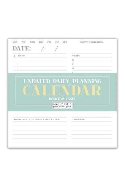 Image of TF Publishing Undated Daily Planning & Productivity Desktop Calendar