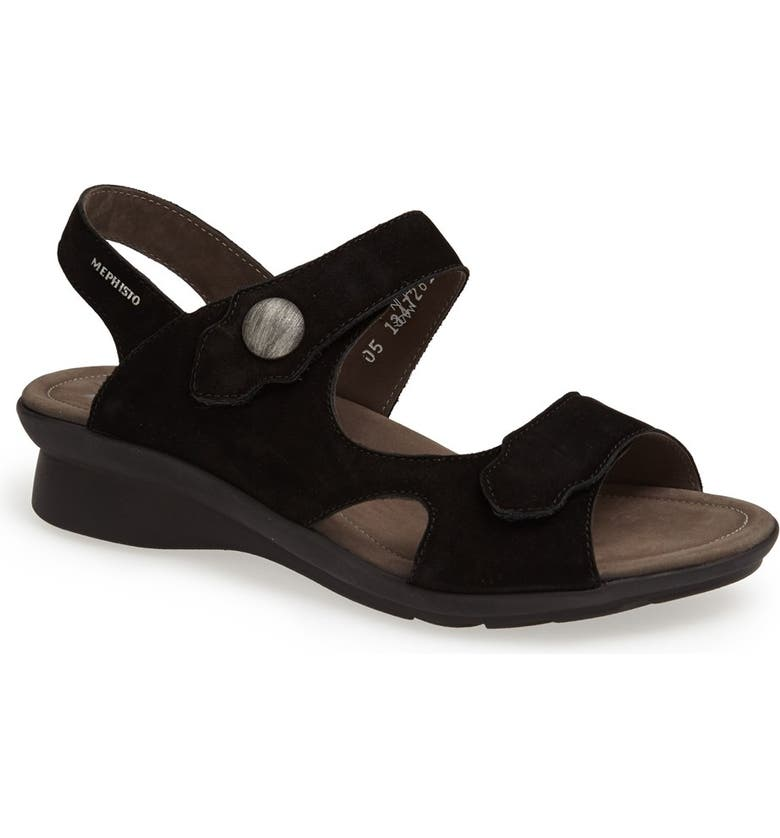 MEPHISTO 'Prudy' Leather Sandal, Main, color, 002