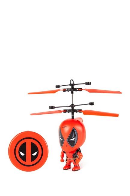 "Image of World Tech Toys Marvel 3.5"" Deadpool Flying Figure IR Helicopter"