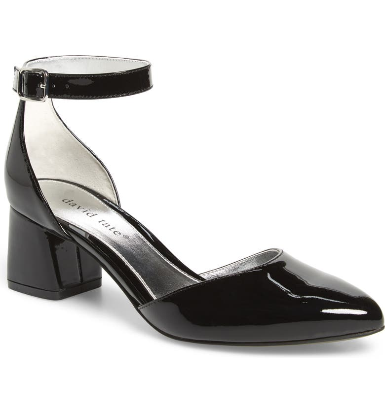DAVID TATE Adeline Sandal, Main, color, BLACK PATENT LEATHER