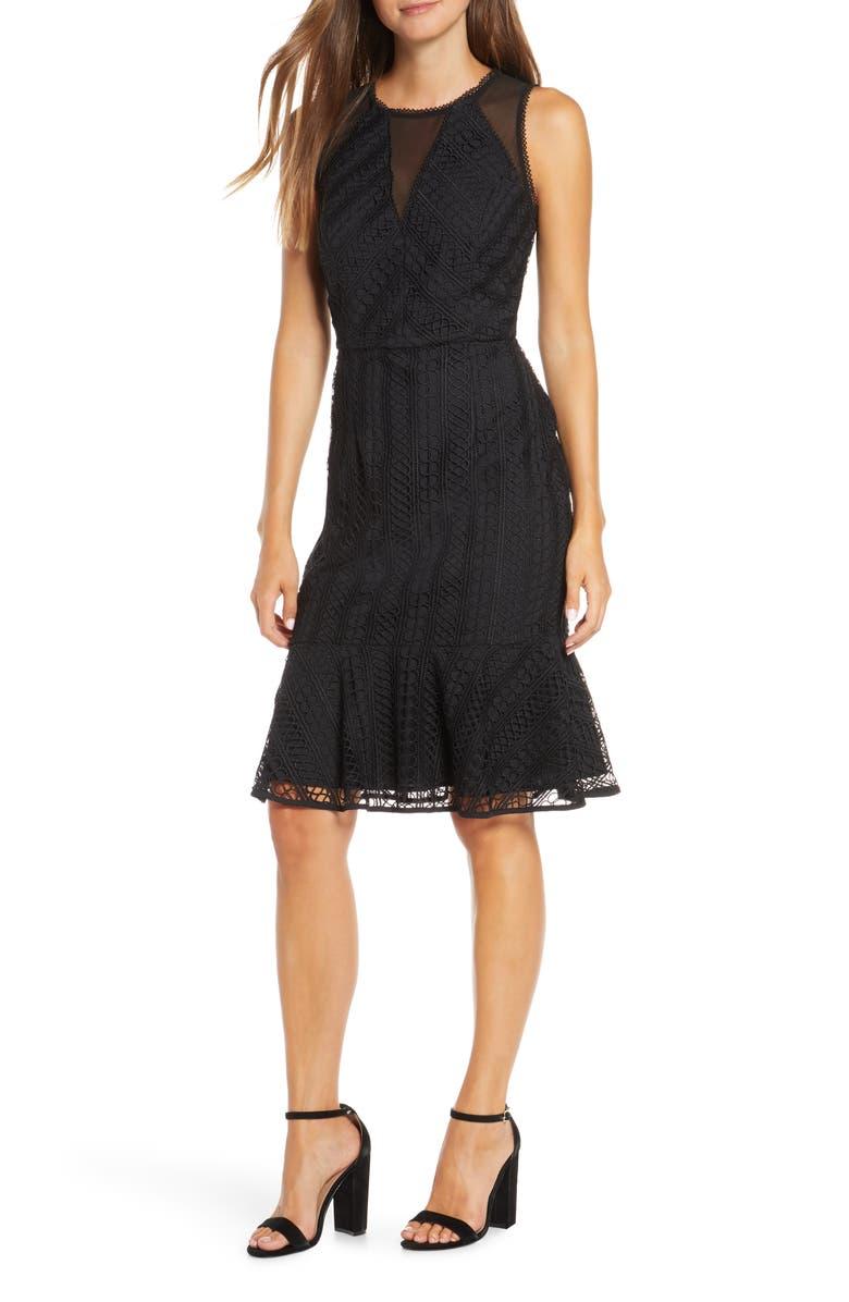 ADELYN RAE Audrey Sheath Dress, Main, color, BLACK