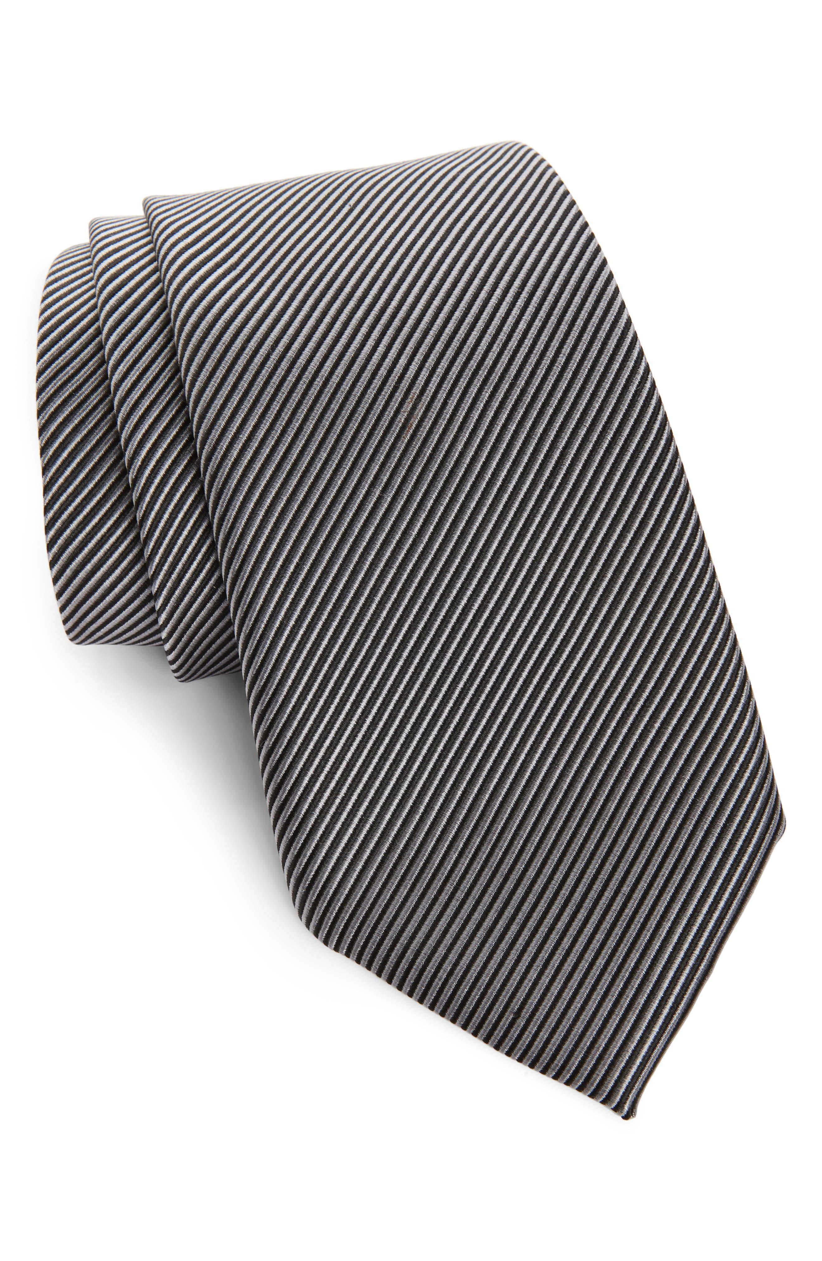 ,                             Stripe Silk Tie,                             Main thumbnail 1, color,                             004