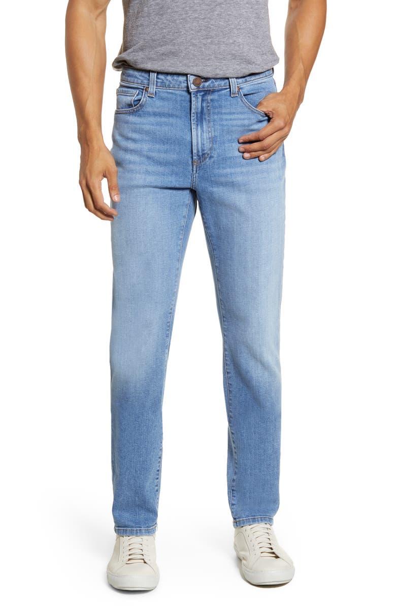 MONFRÈRE Deniro Slim Straight Leg Jeans, Main, color, LIGHT INDIGO