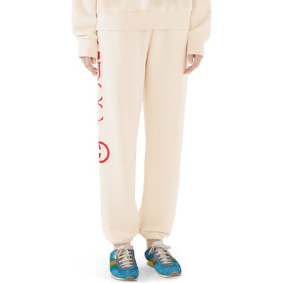 Gucci Logo Sweatpants, Ivory