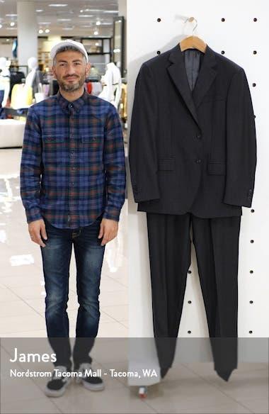 Flynn Classic Fit Plaid Wool Suit, sales video thumbnail