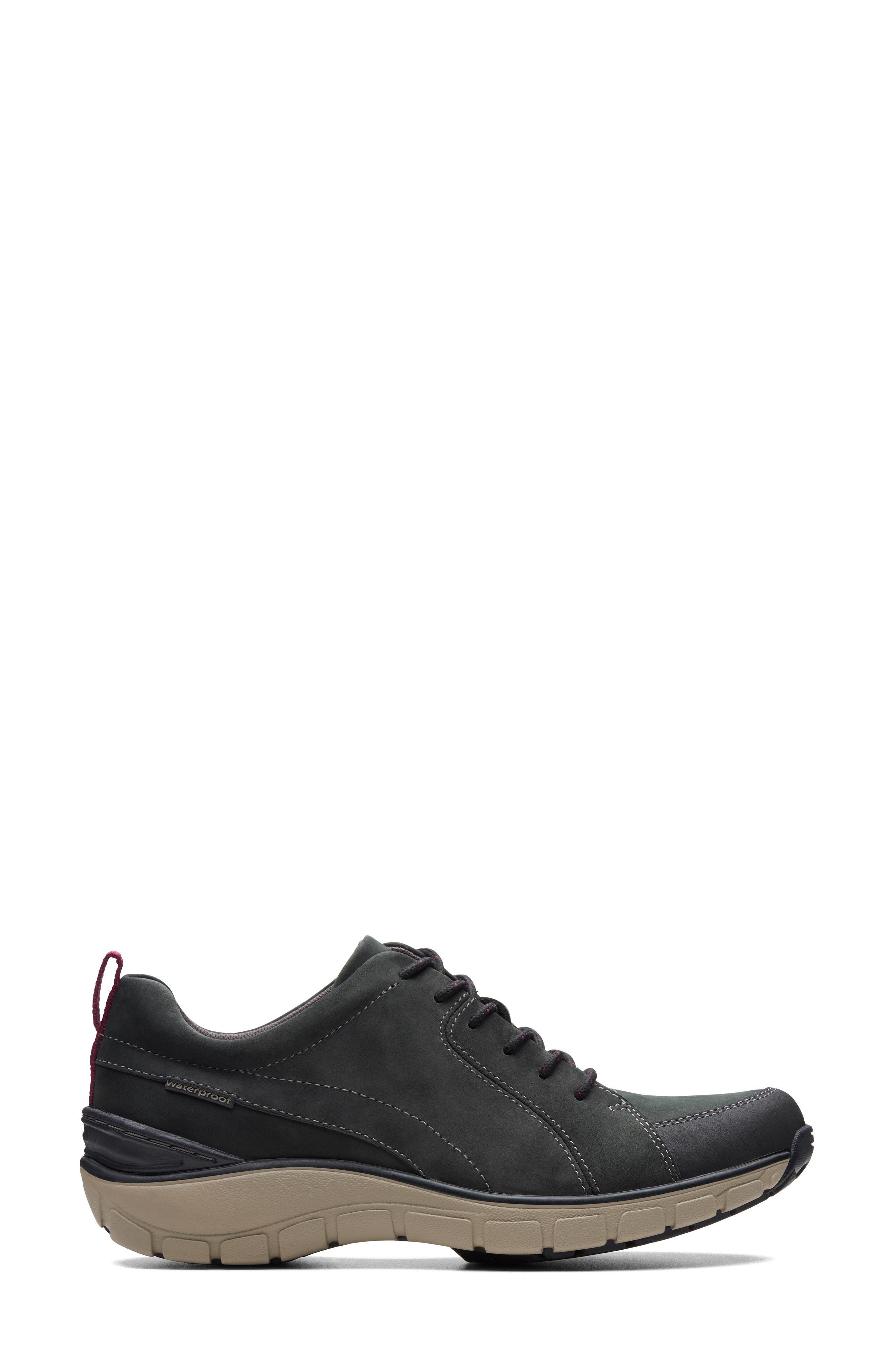 ,                             Wave Go Waterproof Sneaker,                             Alternate thumbnail 2, color,                             BLACK NUBUCK/ LEATHER COMBI