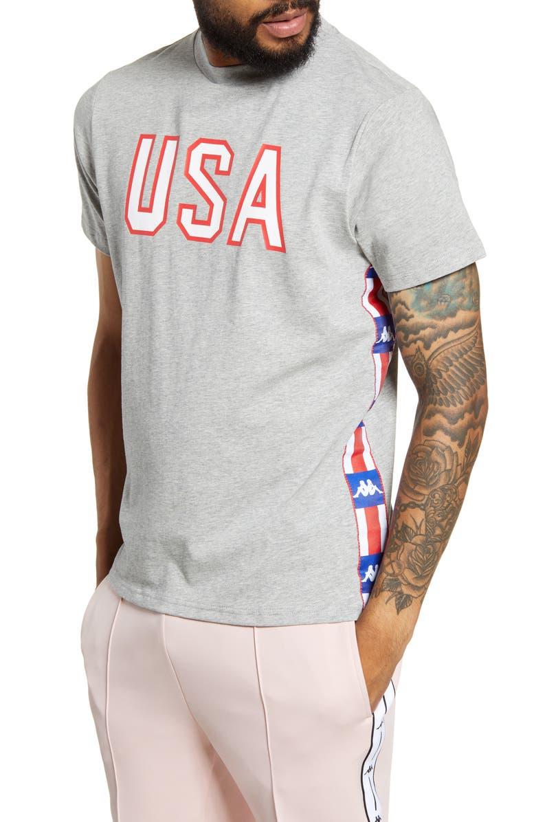 KAPPA Active Authentic LA Barwa T-Shirt, Main, color, 020