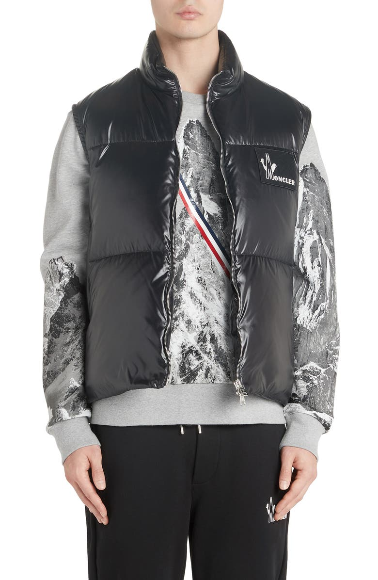 MONCLER Banker Down Vest, Main, color, 001