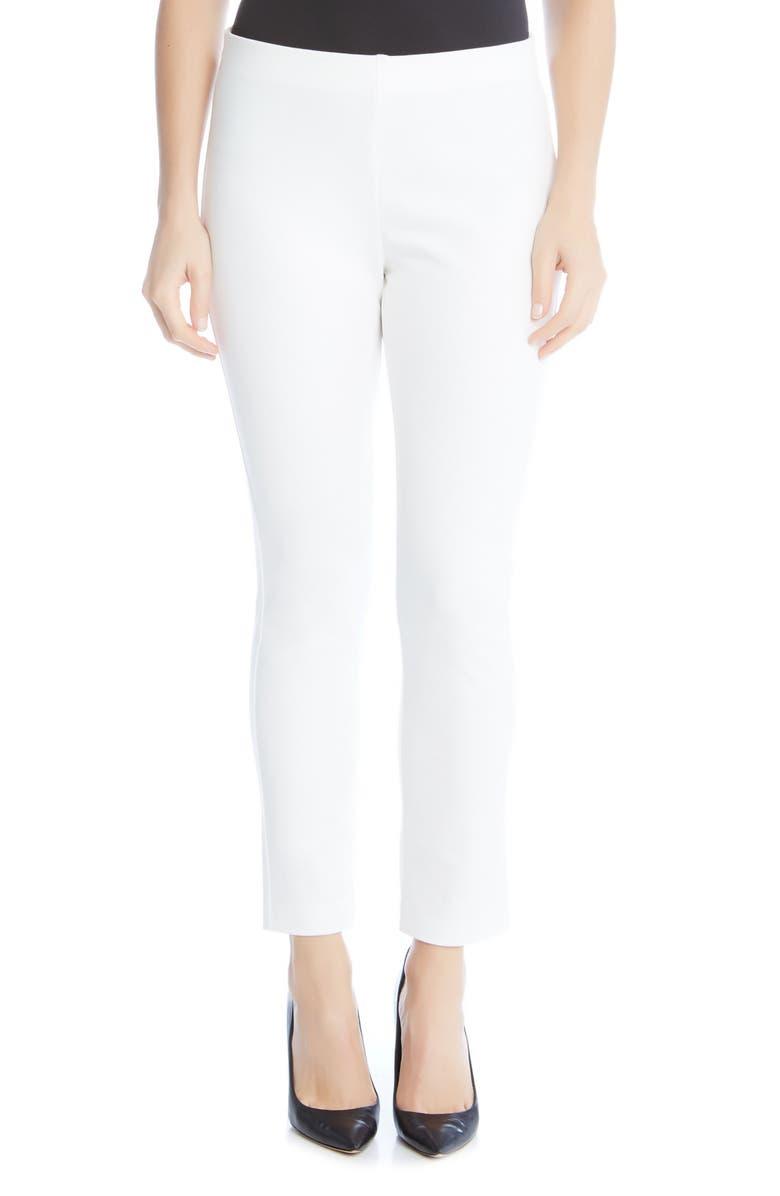 KAREN KANE Piper Skinny Ankle Pants, Main, color, WHITE