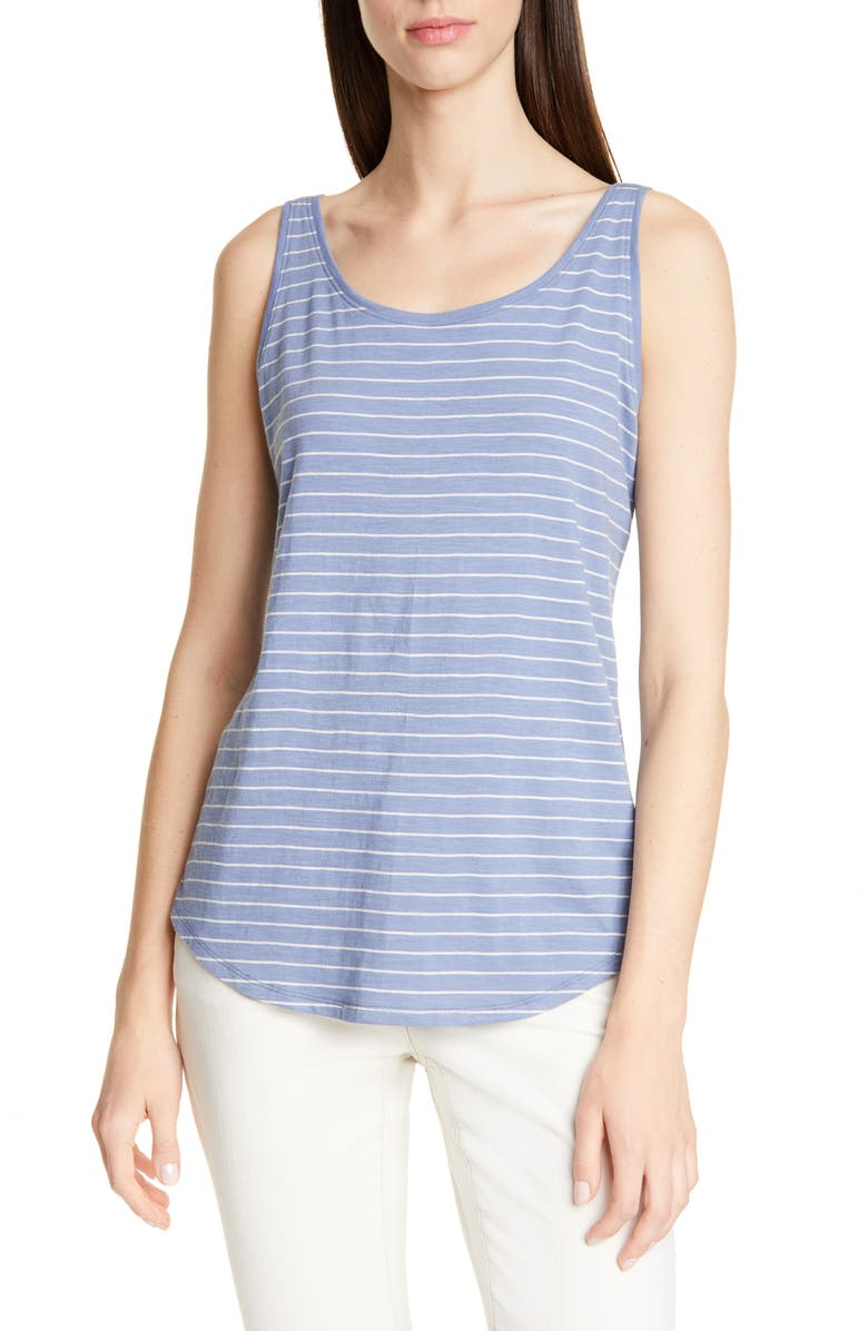 EILEEN FISHER Organic Cotton Tank, Main, color, CHAMBRAY