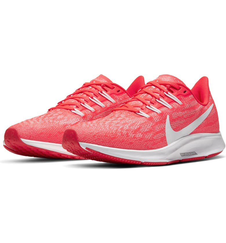 NIKE Air Zoom Pegasus 36 Running Shoe, Main, color, CRIMSON/ PLATINUM/ RED/ WHITE