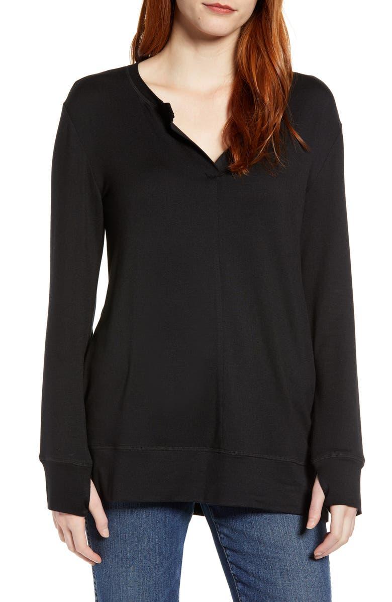 CASLON<SUP>®</SUP> Off Duty Sweatshirt, Main, color, 001