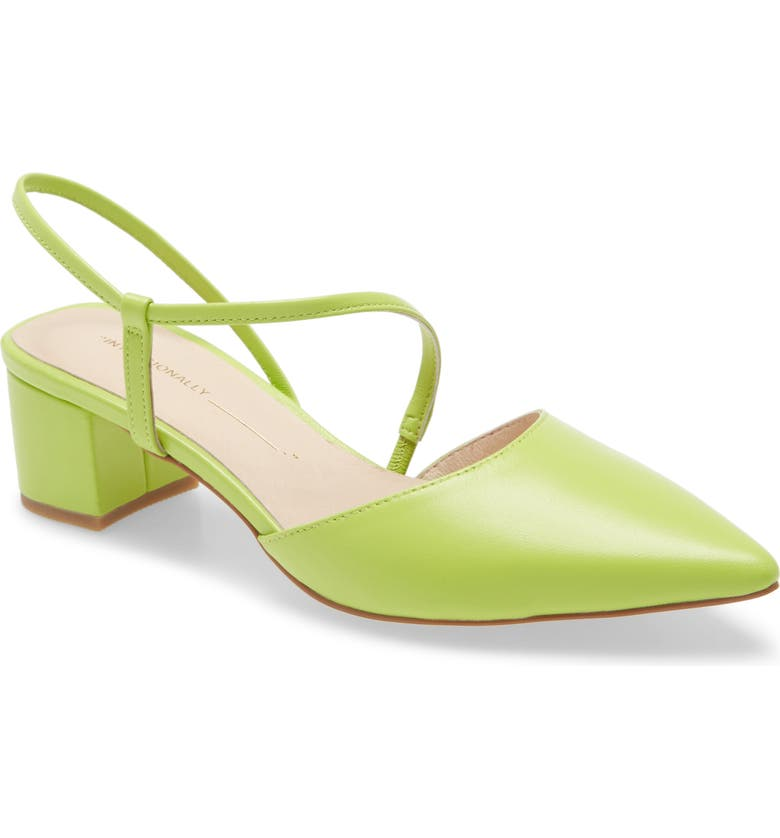 INTENTIONALLY BLANK Viv Slingback Pump, Main, color, LIME LEATHER