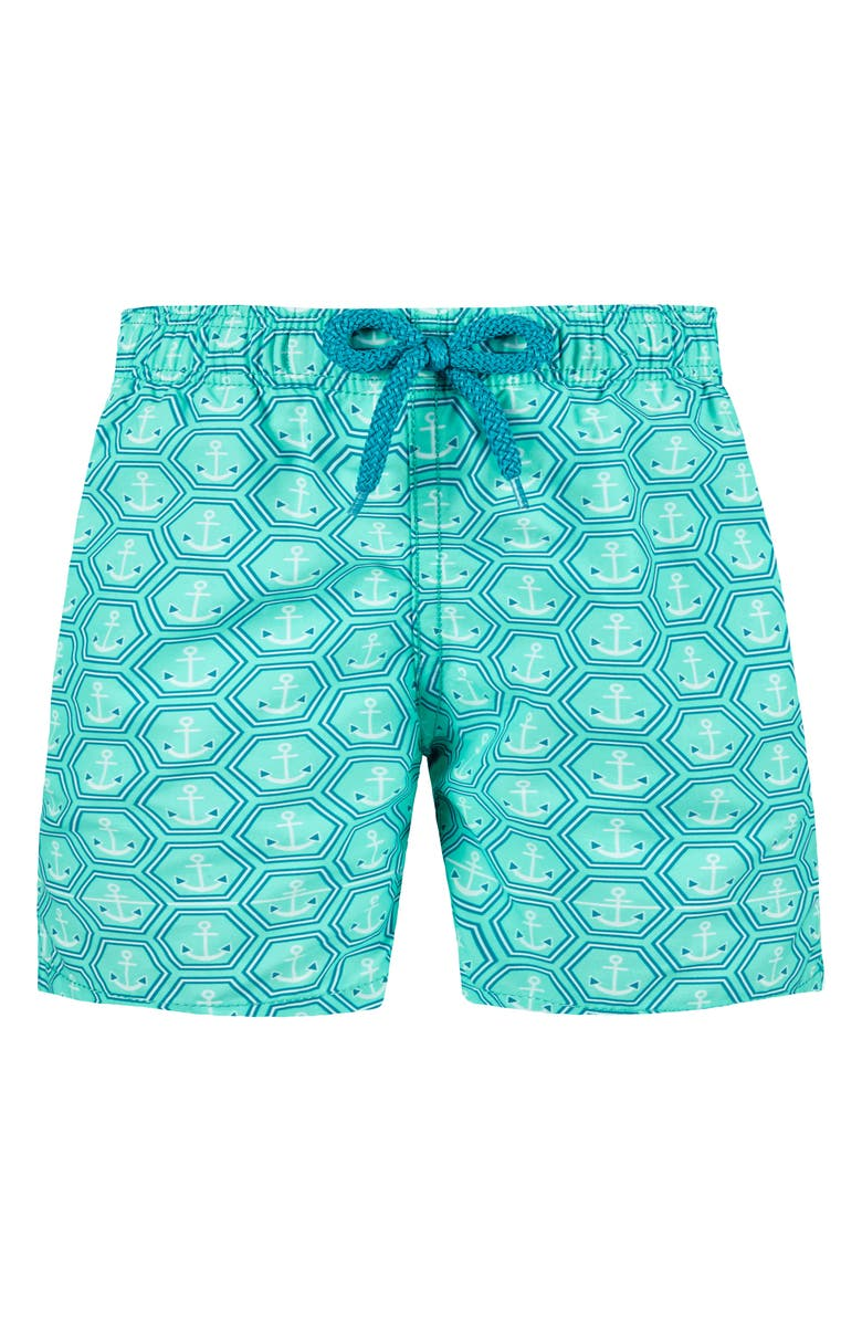 VILEBREQUIN Anchor Swim Trunks, Main, color, MENTHE