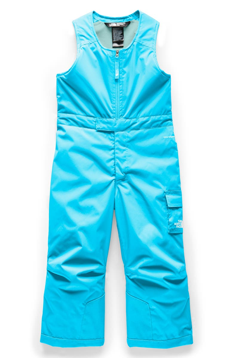 THE NORTH FACE Waterproof Heatseeker<sup>™</sup> Insulated Bib Snowsuit, Main, color, TURQUOISE BLUE