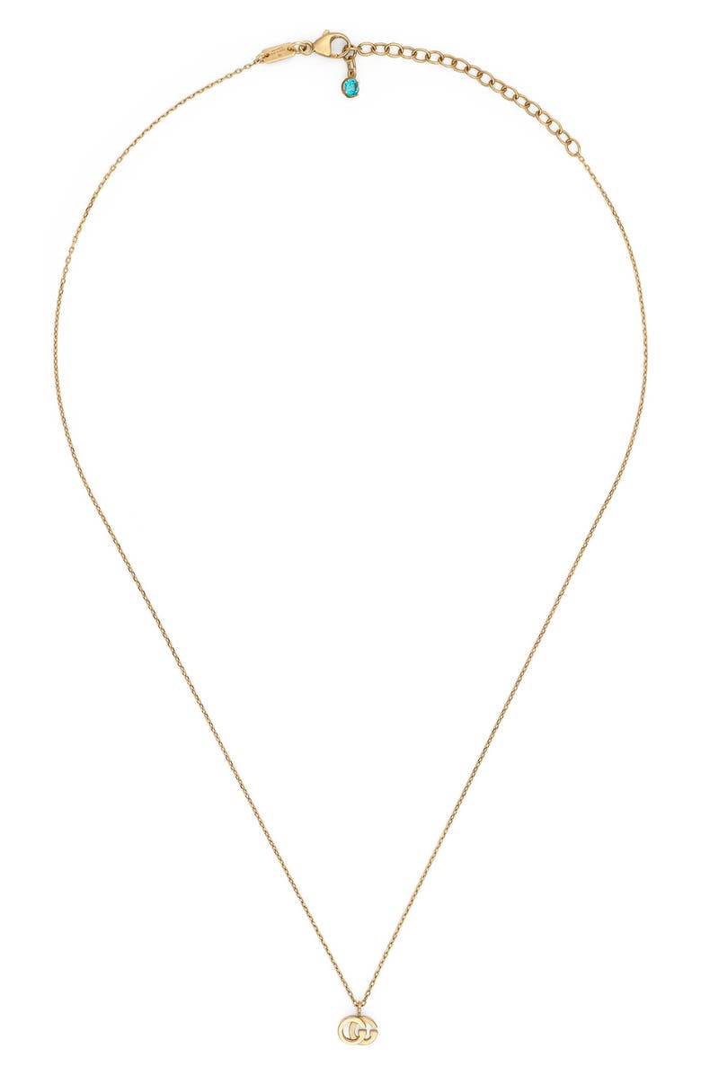 GUCCI GG Running Pendant Necklace, Main, color, YELLOW GOLD