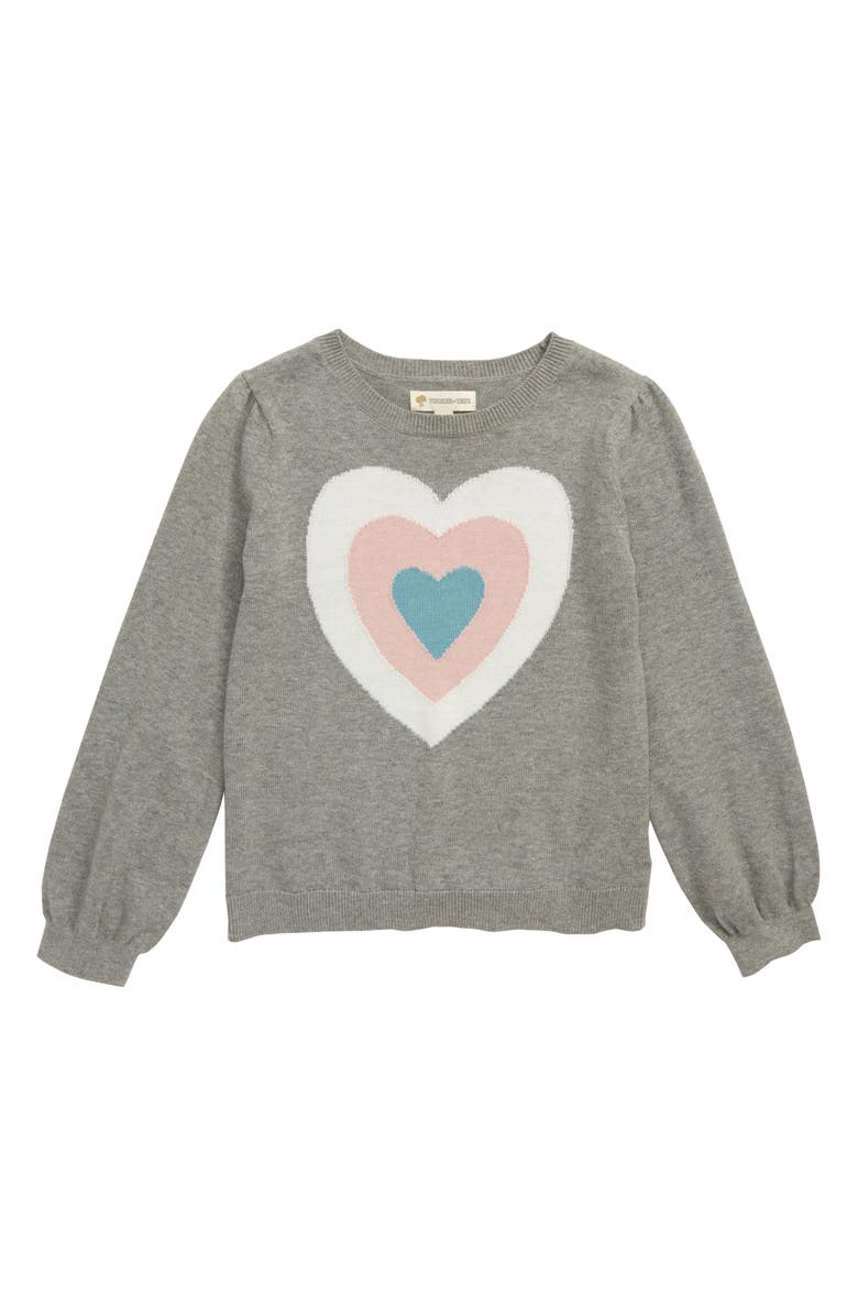 TUCKER + TATE Intarsia Heart Sweater, Main, color, GREY MEDIUM HEATHER