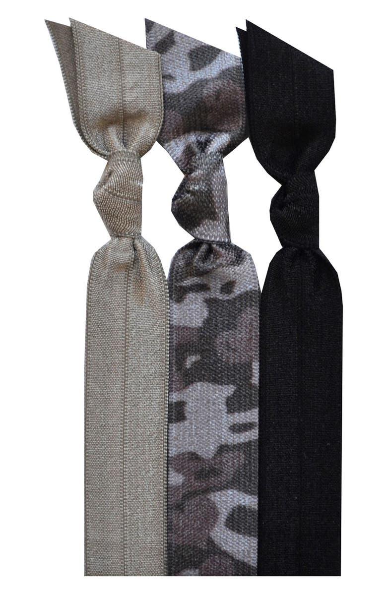 EMI-JAY 'Midnight Camo' Hair Ties, Main, color, 020