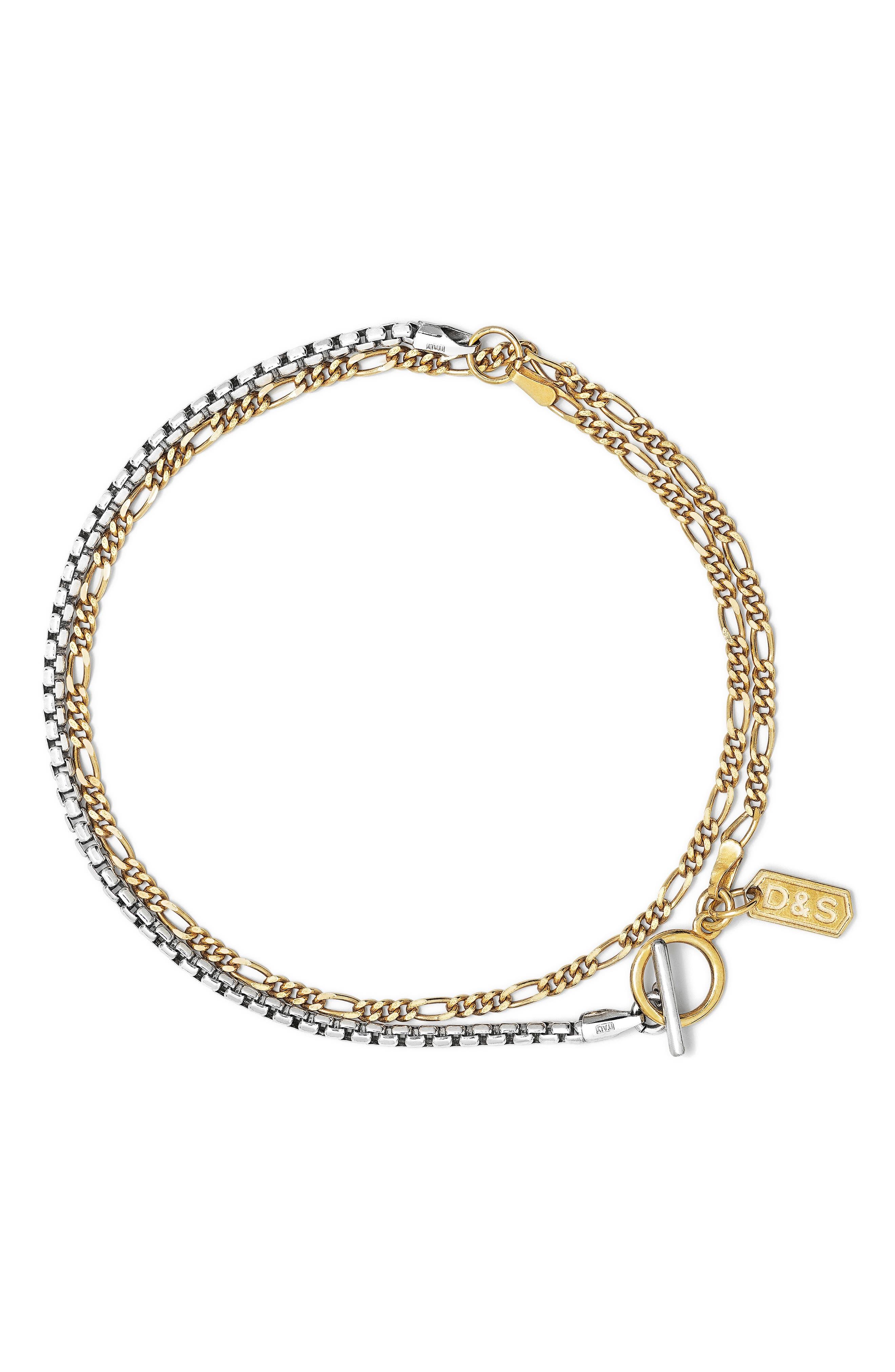 Men's Layered Chain Bracelet