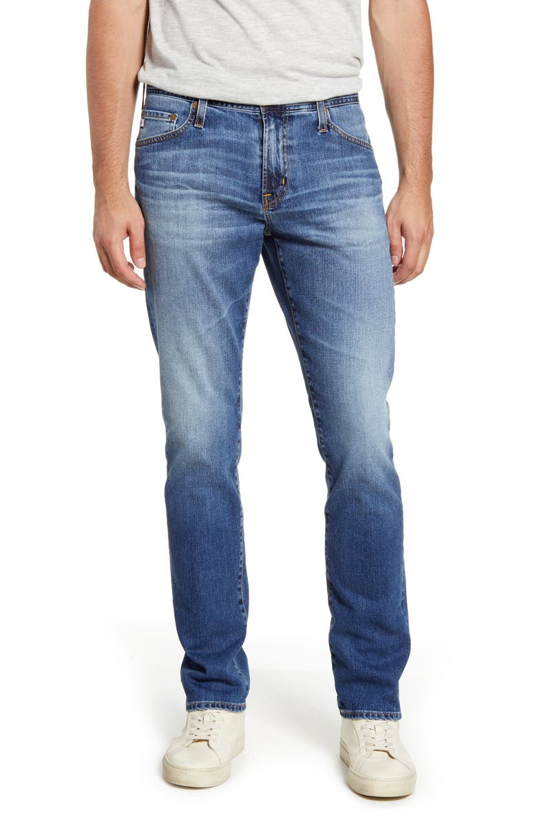 AG Everett Slim Straight Leg Jeans, Main, color, 400