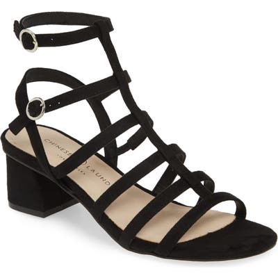 Chinese Laundry Monroe Strappy Cage Sandal- Black