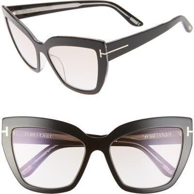 Tom Ford Johannes 5m Cat Eye Sunglasses - Black/ Pink