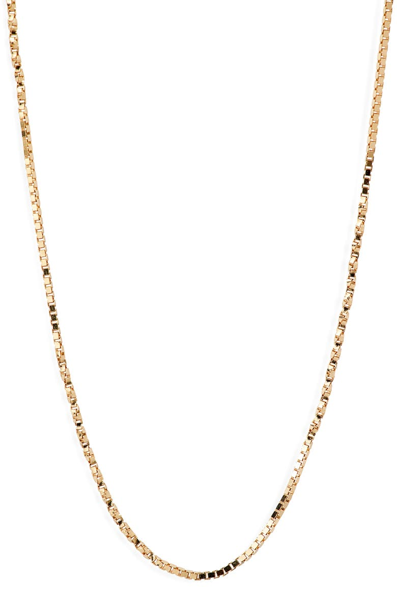 BONY LEVY Flat Rolo Chain Necklace, Main, color, YELLOW GOLD
