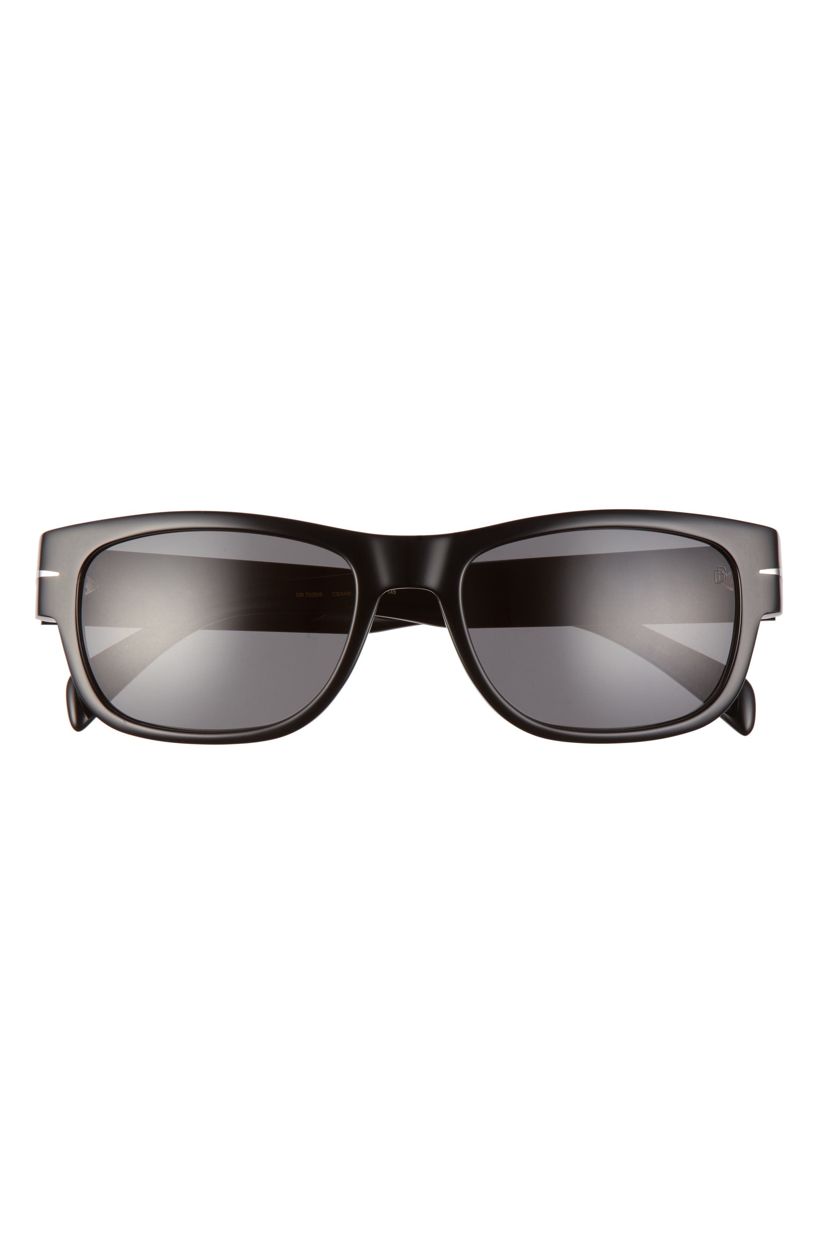 Men's Eyewear By David Beckham 56mm Polarized Rectangular Sunglasses