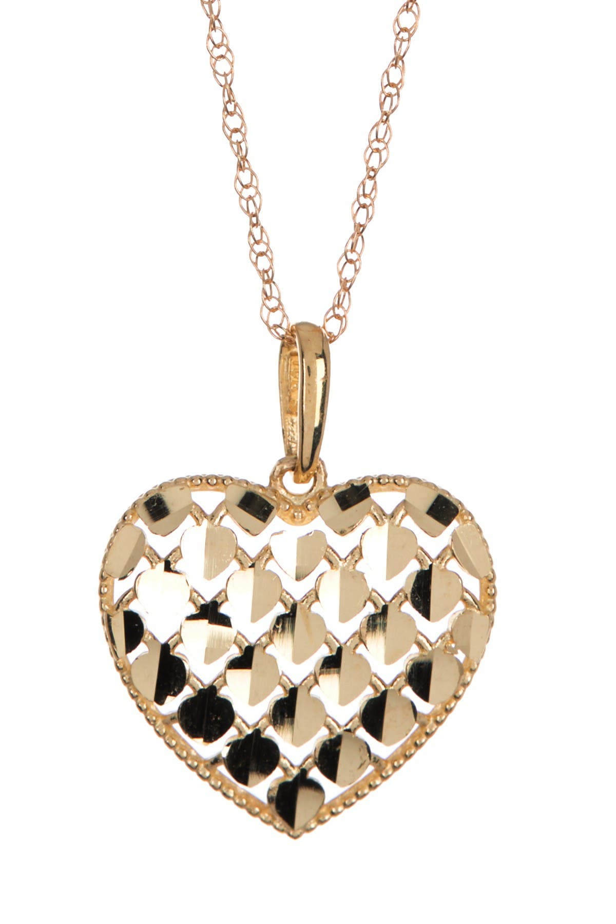Image of Candela 10K Gold Sequin Heart Pendant Necklace
