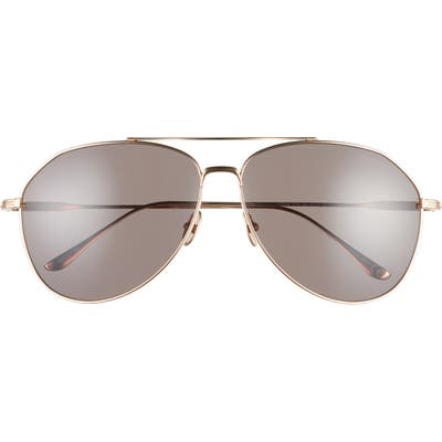 Tom Ford Cyrus 62mm Oversize Aviator Sunglasses - Rose Gold/ Grey